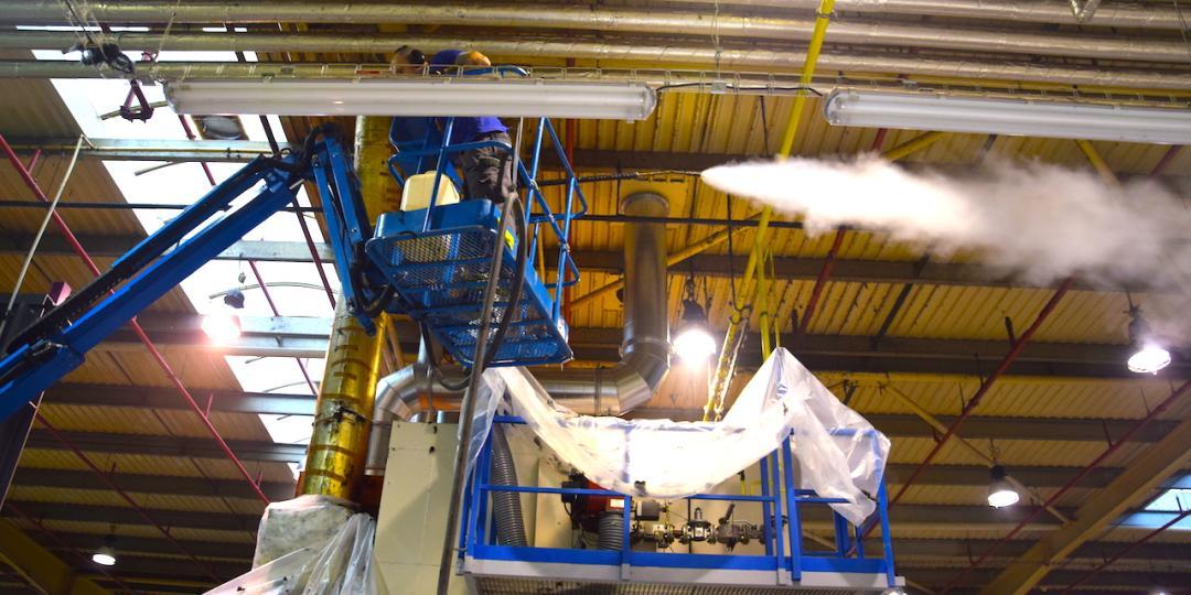 Mytí a čištění průmyslových hal